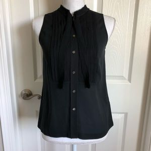 J. Crew Black Sleeveless Blouse NWT